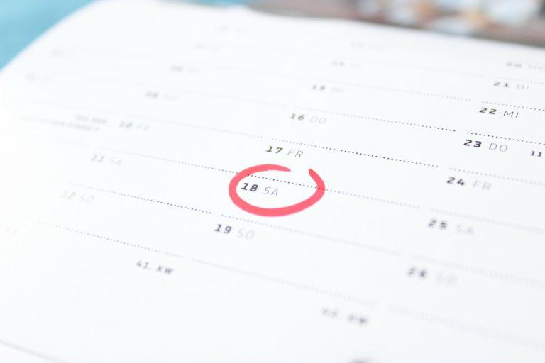 Dato tid uge kalender måned år