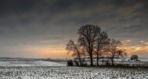 vinter vintertid mark solnedgang