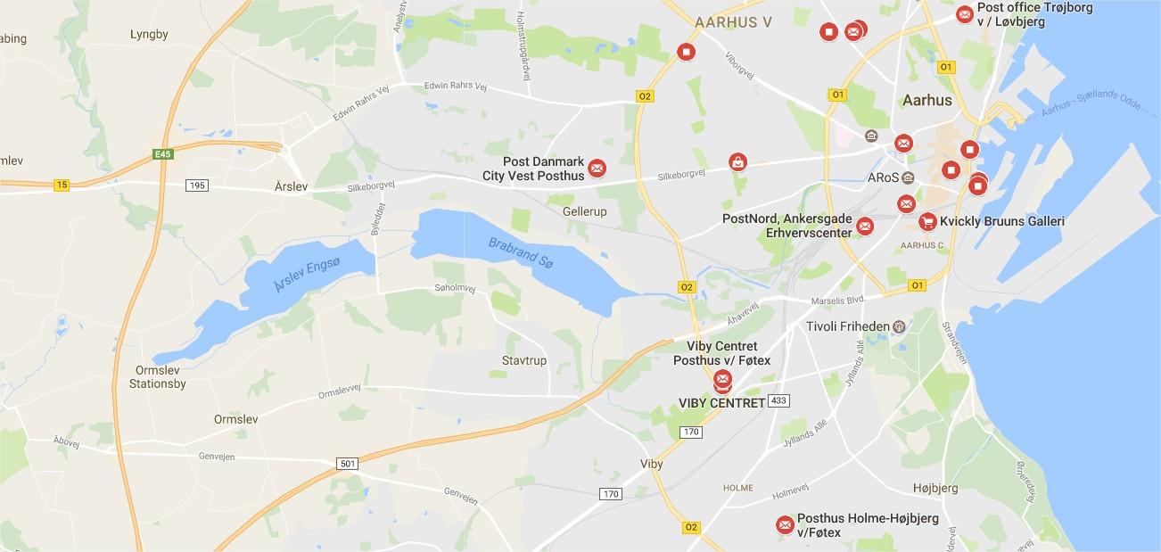 posthuse i Danmark