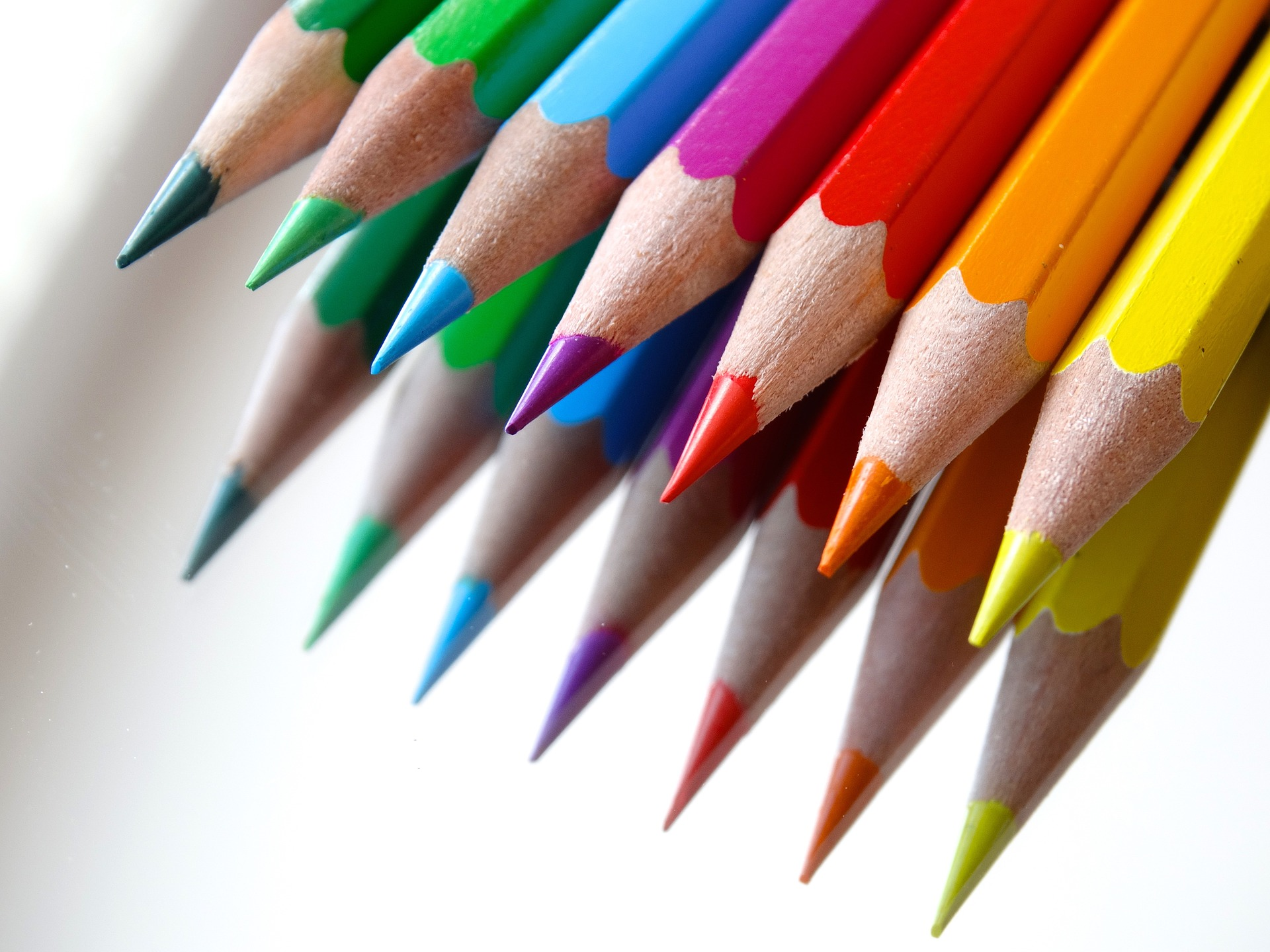 Farver Penne Design Blyanter Skrift Skrive Kreativ