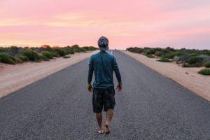 gå gåtur rejse vej horisont