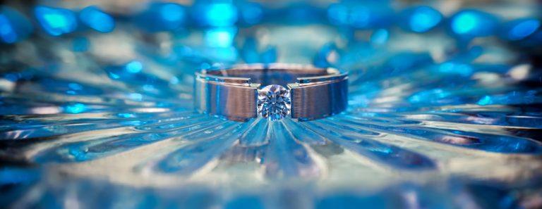 diamant smykke blå karat ring gift